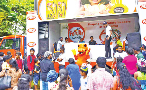 Atlas Future Land truck travels around Sri Lanka to provide children all around with a futuristic and educational experience to kids with uniquely fun mind games.