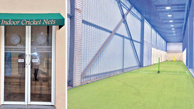 The newly unveiled indoor nets with a state-of-the-art lighting system at Tamil Union C&AC.