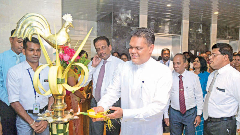 Minister of State for Development Banking and Loan Scheme Shehan Semasinghe at  the event.