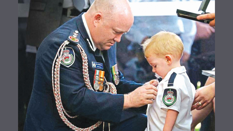 Toddler Son Of Volunteer Firefighter Receives Medal For Dad Killed In Bushfires
