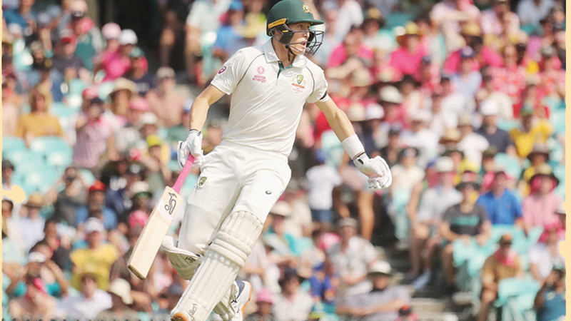 Marnus Labuschagne hit his fourth century in just 14 Tests to put Australia in control on day one against New Zealand. - AFP