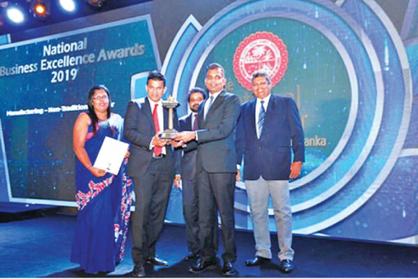 Atlas Axillia Co. (Private) Limited receives the National Business Excellence Award 2019 (Manufacturing – Other Sector). The award was accepted on behalf of the Company by Asitha Samaraweera – Managing Director, Viraj Jayasooriya – COO/Director-Operations and Lalani Weeraarachchi, Head of HR.