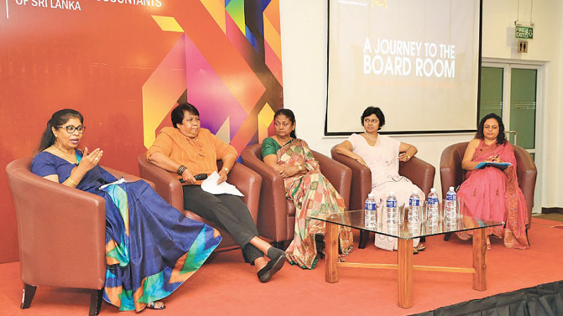 The panel discussion in progress