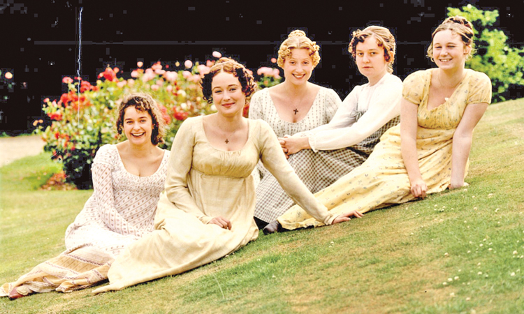 Pompous and priggish … Mary Bennet (second right) with her sisters in the 1994 BBC production of Pride and Prejudice.
