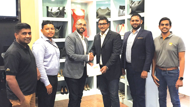 From left: Vinoth Kathuravel - Retail Buyer, Avirate, Hisham Nizam - Operations Manager, Avirate, Asim Younoos – Chief Executive Officer, Avirate, Sammy Akbar – Director – 3PL & Freeport, EFL, Leroy Ebert – Chief Growth Officer, EFL, Sahan Warnasuriya – Assistant Manager – Business Development, EFL.