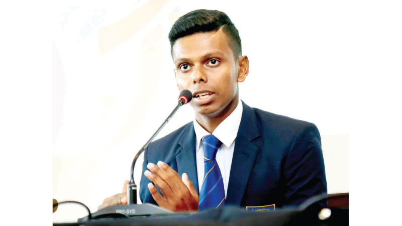 Sri Lanka under 19 captain Nipun  Dananjaya