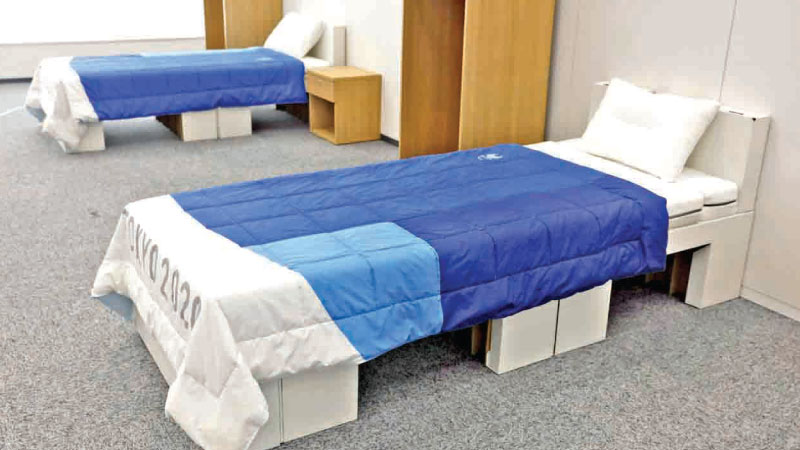 Cardboard beds for the Tokyo 2020 Olympic and Paralympic Villages will be recycled into paper products after the Games.