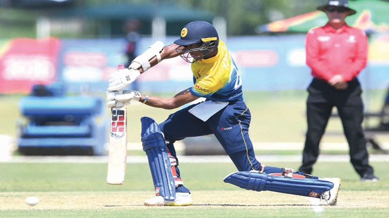 Kamil Mishara of Sri Lanka batting during the ICC U19 Cricket World Cup Plate Semi-Final match against Scotland at Absa Puk Oval, Potchefstroom on Thursday.