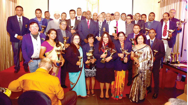 The officials with chief guest and all award winners.