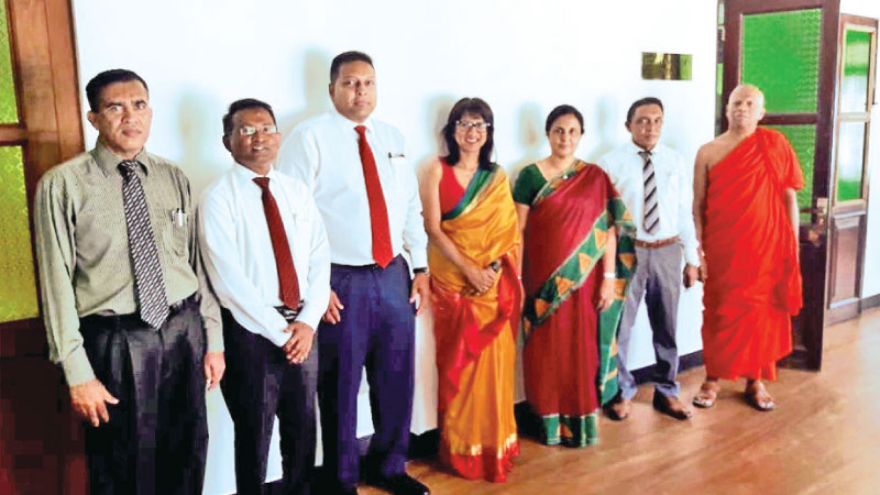 Corporate Management members of Nations Trust Bank and University of Colombo officials after signing the MoU