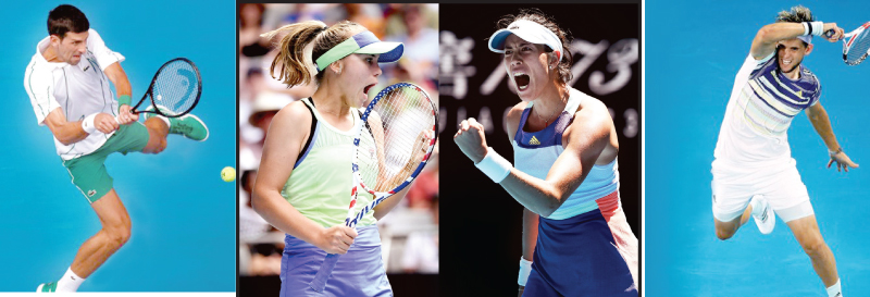 Women's Singles finalists:  Sofia Kenin and Garbine Muguruza