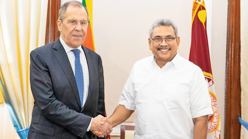 Foreign Minister of Russia Sergey Lavrov met with President Gotabaya Rajapaksa at the Presidential Secretariat during his visit to Sr Lanka last month.