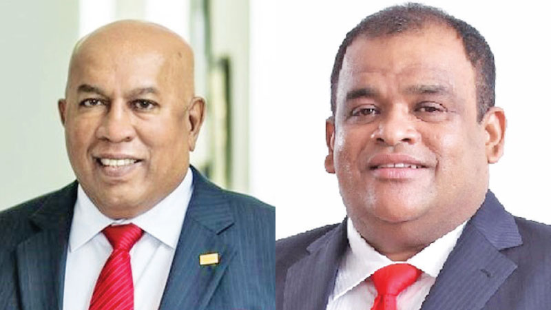 Chairman Mohan Pandithage and  Co-Chairman Dhammika Perera