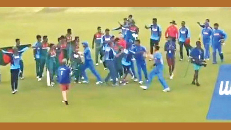 After the final of the U19 World Cup ended on a shocking note as Bangladesh and India teams engaged in a spat.