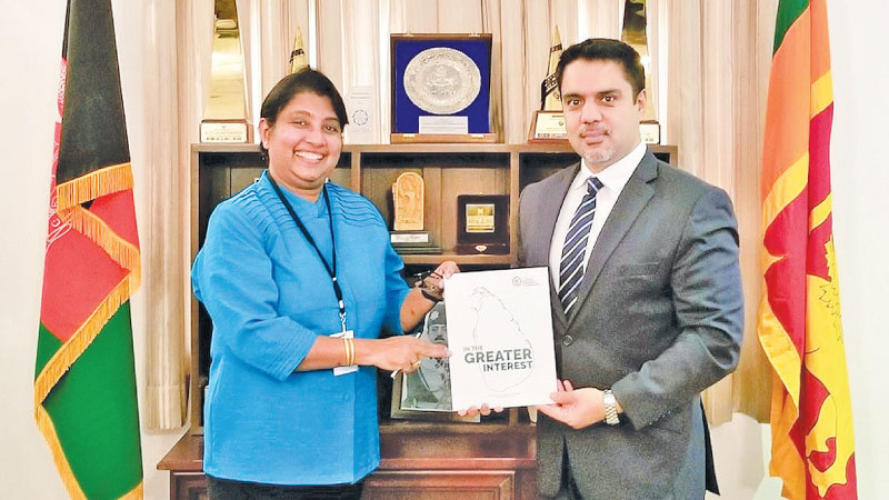 Ambassador of Afghanistan to Sri Lanka, M. Ashraf Haidari with Chamber of Commerce Senior Assistant Secretary General Lilakshini de Mel