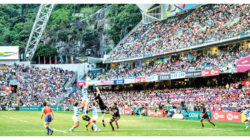 The Hong Kong Stadium venue of World Rugby Sevens Series.