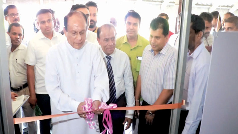 State Minister Lakshman Yapa Abeywardena opening the Matara Press Centre. Picture by Priyan de Silva.