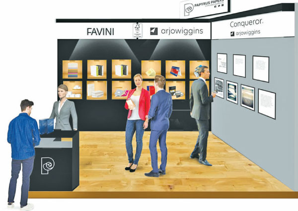 An artist's impression of the Papyrus Papers stall at the upcoming Sri Lanka Print 2020 Exhibition