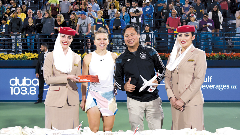 Emirates offered tennis fans the opportunity to win tickets to watch the matches and meet the champions.
