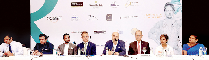 Key players behind HSBC Colombo Fashion Week. Picture by Sulochana Gamage