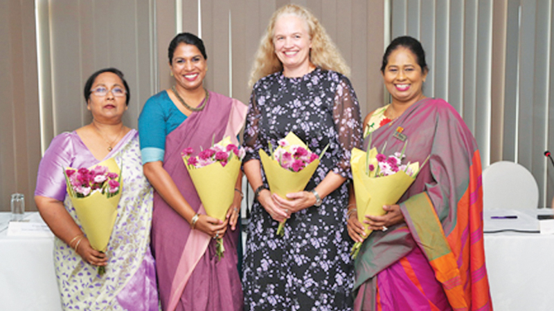 Chairperson, Chathuri Ranasinghe, Head of Operations and Policy, ECCSL, Tanya Goonawardene, Ambassador of Norway, Trine Jøranli Eskedal and Founder/Chairperson, WIM, Dr. Sulochana Segera.