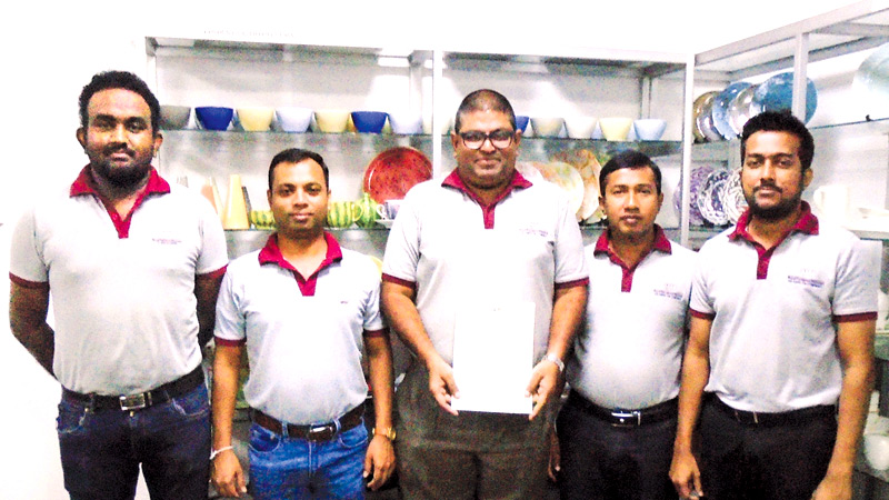 Yapa Shamika Manager Technical, Mahinda Rathnayake Senior  Manager ERP and Process Control, Yoshan Fernando Director and Chief  Executive Officer, Jagath Rajamanthri Assistant General Manager  Operations, Janak De Silva Manager Planning and Product Development