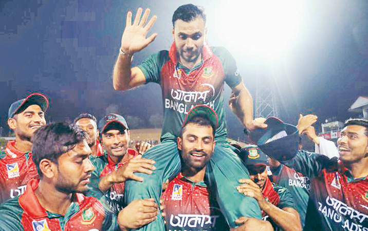 He carried this team on his shoulder over the years and following his last match as an ODI captain, Mashrafe Bin Mortaza was carried by teammates.