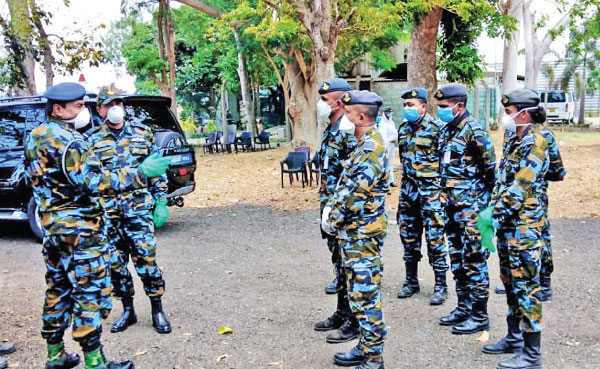 The Sri Lanka Air Force's CBRNE Wing at the BIA. Picture courtesy SLAF