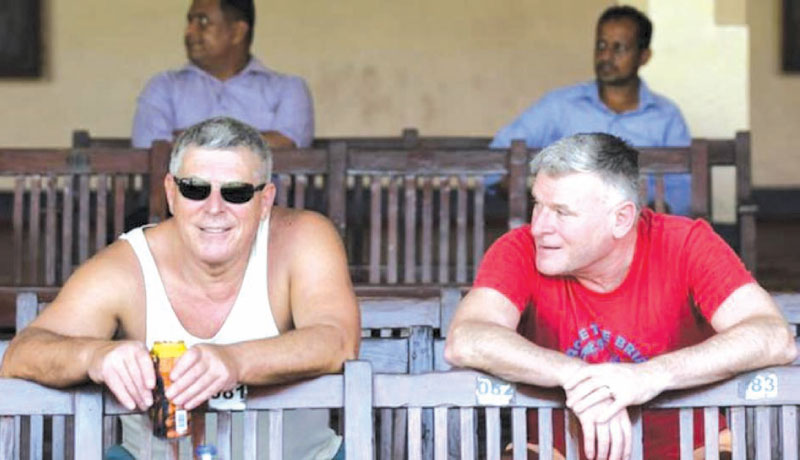 Some England fans were in Sri Lanka for the warm-up matches before the scheduled Test series