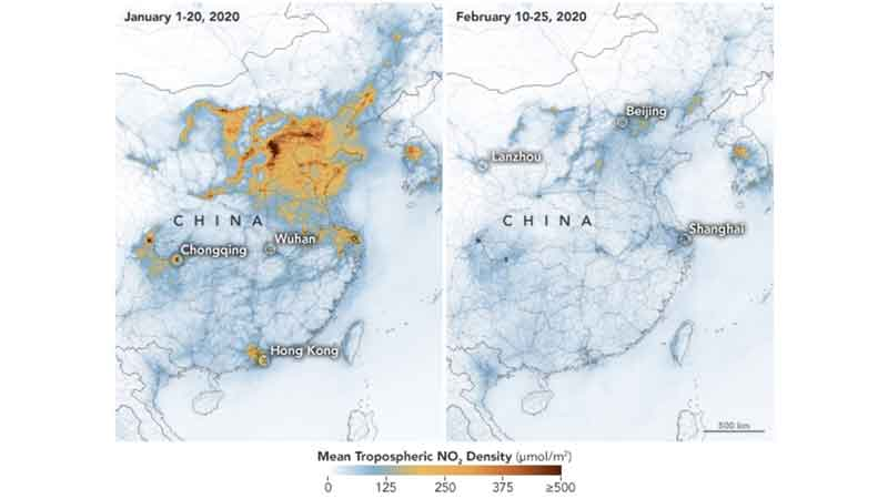 Air becomes cleaner over China