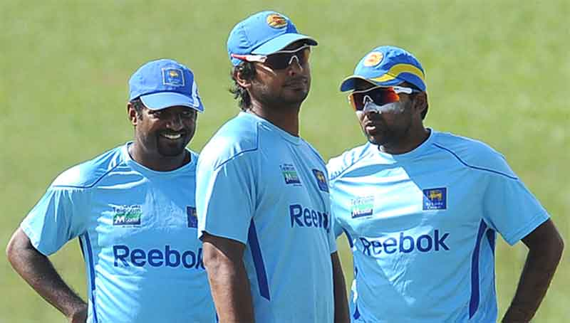 Past greats Muthiah Muralitharan, Kumar Sangakkara and Mahela Jayawardene are all involved in charity work to fight Covid-19.