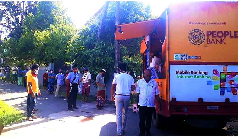 A People's Bank Mobile Banking Unit in Gampaha