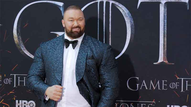 "Hafthor Julius Bjornsson arrives for the premiere of the final season of ""Game of Thrones"" at Radio City Music Hall in New York, U.S."