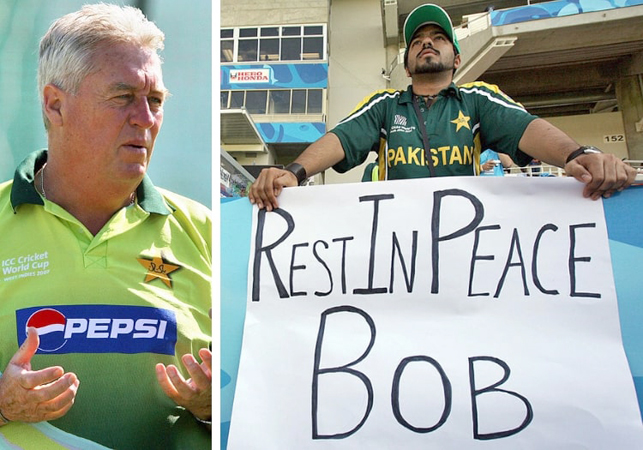 Pakistan cricket coach Bob Woolmer