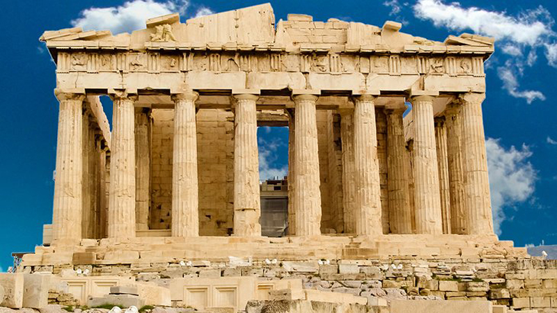 The Acropolis in Athens.