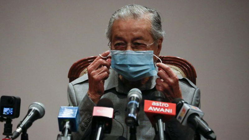 Malaysia's former Prime Minister Mahathir Mohamad during an interview in Kuala Lumpur on March 13, 2020.