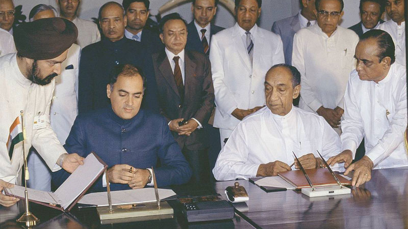 Signing of the Indo Lanka Accord