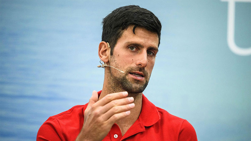 World number one tennis player Novak Djokovic.