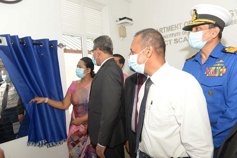Minister of Health, Nutrition and Indigenous Medicine, Pavithra Wanniarachchi opens the newly constructed building