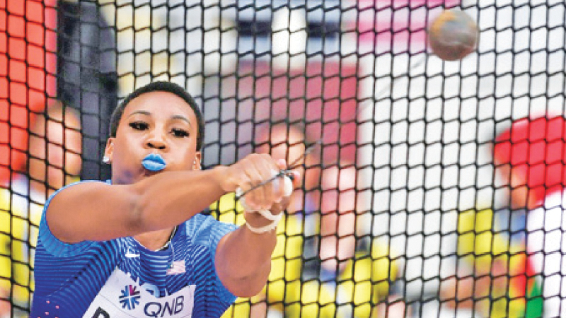 US hammer thrower Gwen Berry welcomed a statement from US Olympic chiefs backing athletes right to protest. - AFP