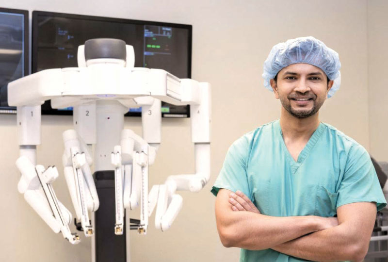 Transplant surgeon Dr. Ankit Bharat who led the team of surgeons that performed a double-lung transplant on a COVID-19 patient.