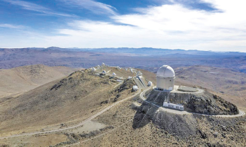 An aerial view of the European Southern Observatory's (ESO) La Silla facility in La Higuera in Chile's Atacama Desert, on June 6, 2019.