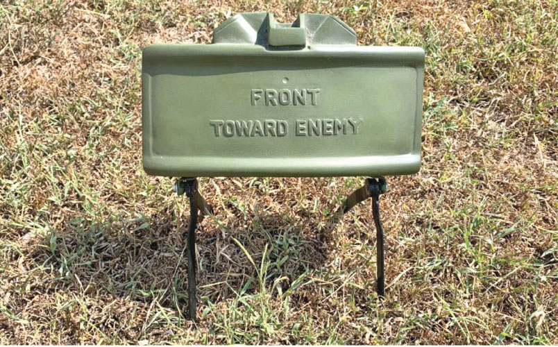 A claymore mine similar to the one exploded by the LTTE in Kebithigollewa.