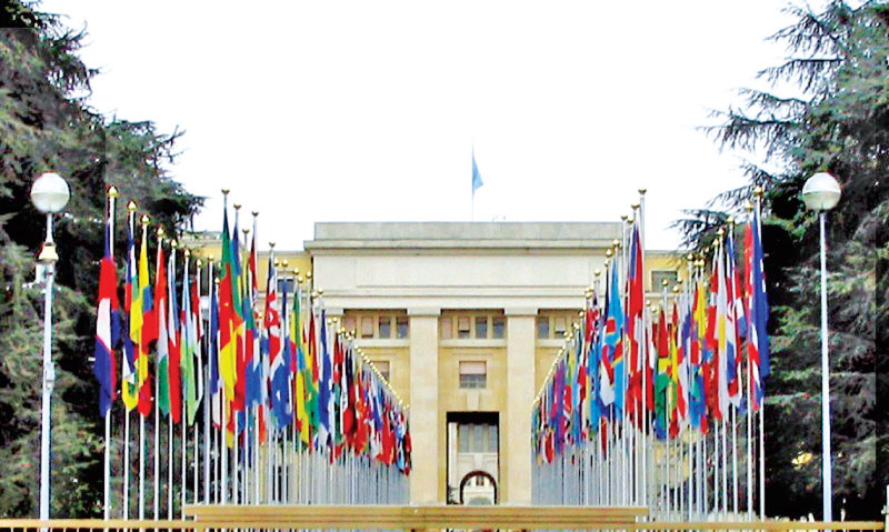 The U.N. Human Rights Council is located at the U.N. Palace of Nations headquarters in Geneva, Switzerland.