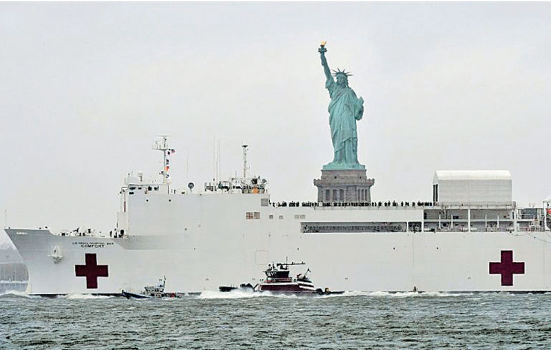 The Statue of Liberty in NewYork.