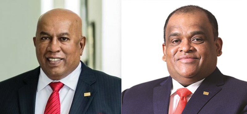 Mohan Pandithage, Chairman and Chief Executive and Dhammika Perera, Co-Chairman