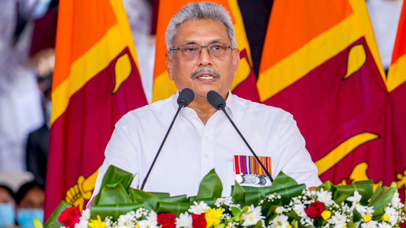 President Gotabaya Rajapaksa addressing at the War Heores Day ceremony