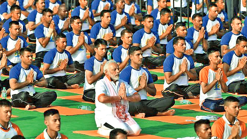 Indian Prime Minister Narendra Modi has set up a ministry to promote yoga.