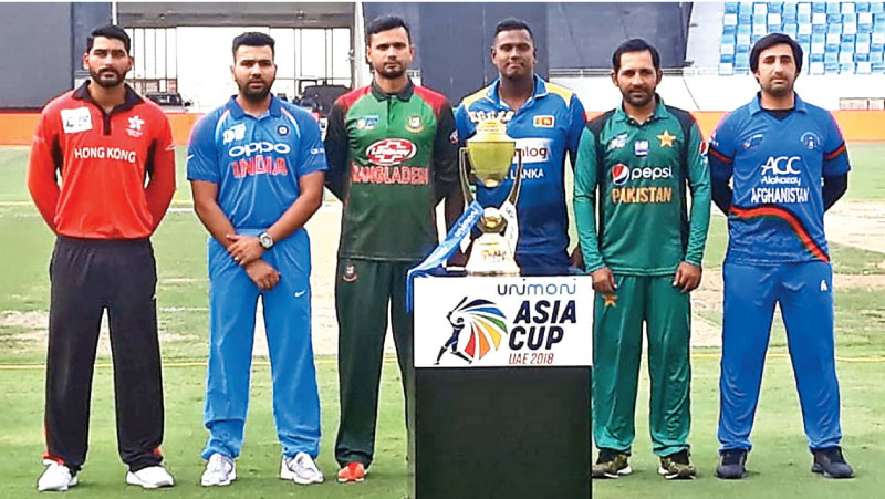 All Captains of the 2018 Asia Cup Tournament.