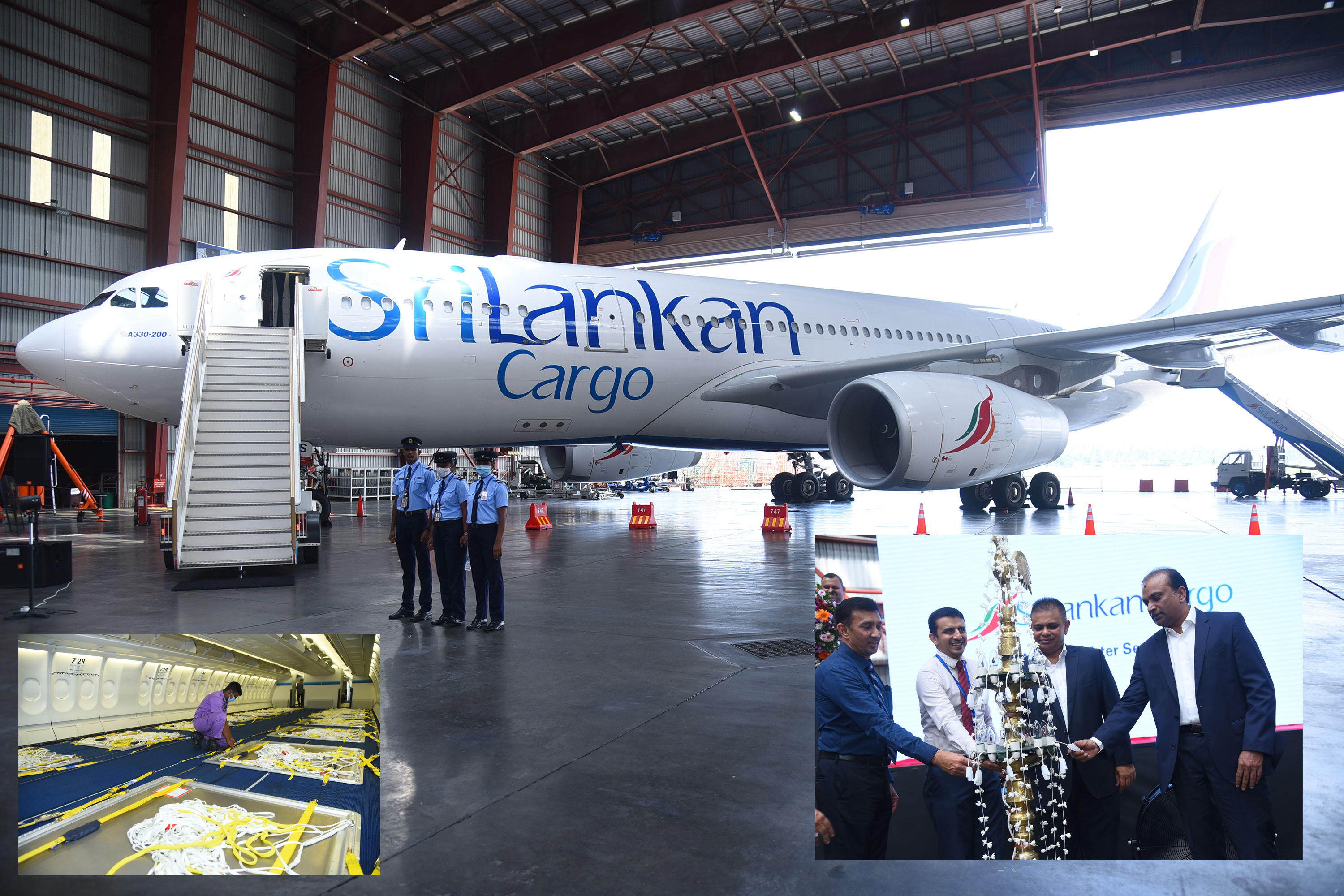 Lighting of the oil lamp on this historic occasion by Ashok Pathirage - Chairman of SriLankan Airlines at the launch of   SriLankan Cargo's first ever wide body Airbus A330-200 freighter aircraft.